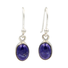Load image into Gallery viewer, Sundari small oval cabochon deep bezel earrings