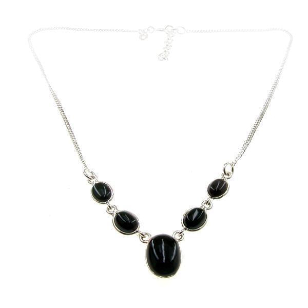 Oval necklace Black Onyx
