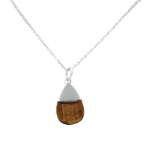 Load image into Gallery viewer, Teardrop necklace Tigers Eye
