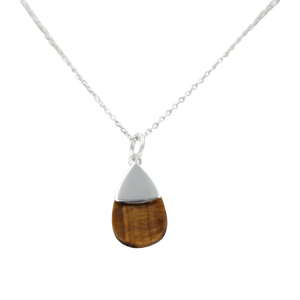 Teardrop necklace Tigers Eye