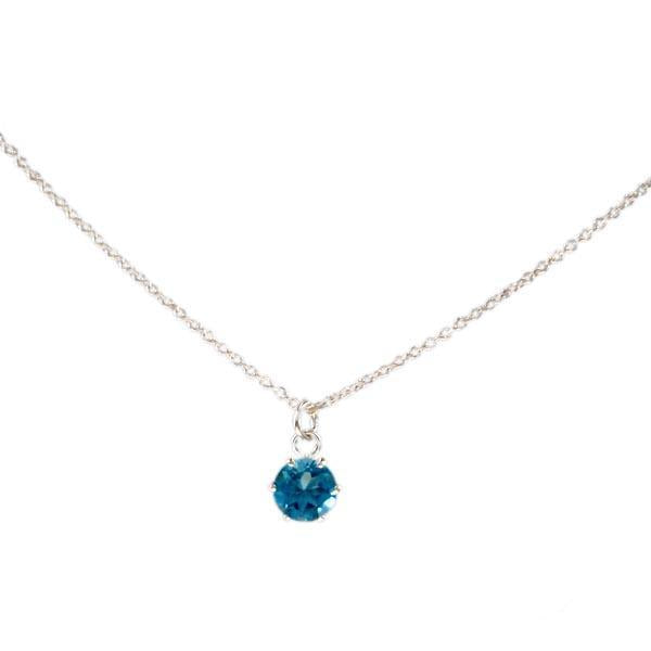Sterling Silver Necklace with a fine Faceted Zirconia