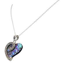 Load image into Gallery viewer, Stunning Large Sterling Silver Heart Pendant with  a Natural Seashell
