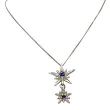 Load image into Gallery viewer, Sterling Silver Twain Sunray Pendant with a faceted Iolite gemstones