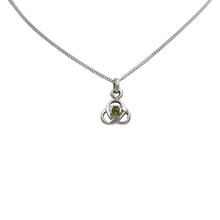 Load image into Gallery viewer, Celtic pendant with a half sphere faceted stone or a Pearl