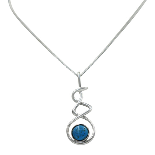 Triple Infinity Pendant with Turquoise