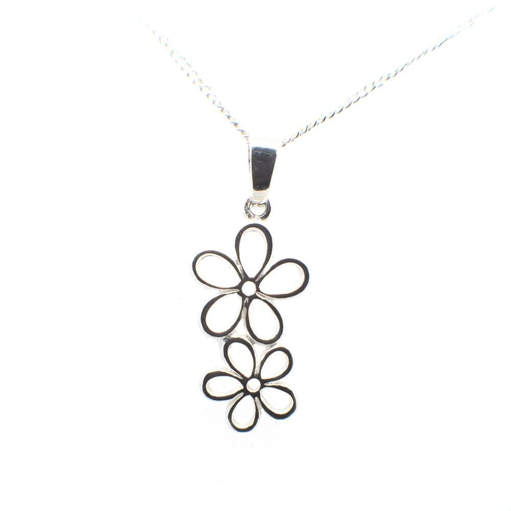 Pendant Plain Silver *Twin Flower*