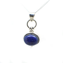 Load image into Gallery viewer, Ovel Shaped simple but elegant pendant with a cabochon Lapis Lazuli