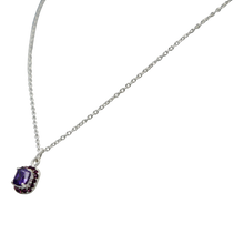 Load image into Gallery viewer, Pendant with a Amethyst Zirconia faceted stone
