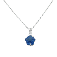 Load image into Gallery viewer, Star shape pendant Blue Topaz Zirconia