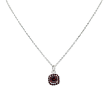 Load image into Gallery viewer, Pendantwith a Garnet Zirconia faceted stone
