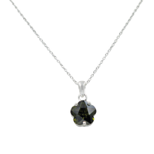 Load image into Gallery viewer, Star shape pendant with a faceted colored Zirconia