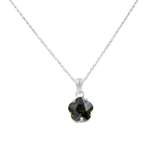 Star shape pendant with a faceted colored Zirconia