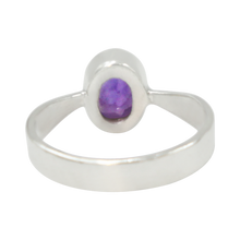Load image into Gallery viewer, Inner view of the bezel setting sterling silver ring