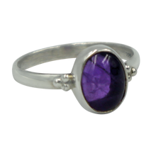 Load image into Gallery viewer, A simple and slightly ethnic ring with a large oval cabochon stone which can be used for everyday wearing