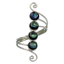Load image into Gallery viewer, Unique Sundari design of a simple Swirl Ring with natural Abalone.