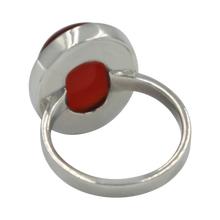 Load image into Gallery viewer, Sundari large oval cabochon carnelian silver ring