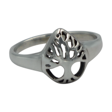 Load image into Gallery viewer, Tree of life Drop Shape Sterling Silver Ring