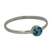 Load image into Gallery viewer, Simple Cubic Zirconia small stone extra thin Ring. Available in multiple colours.