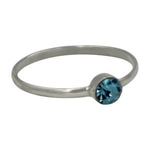 Simple Cubic Zirconia small stone extra thin Ring. Available in multiple colours.