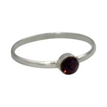 Load image into Gallery viewer, Simple Garnet Cubic Zirconia small stone extra thin Ring. Available in multiple colours.
