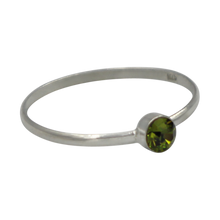 Load image into Gallery viewer, Simple Peridot Cubic Zirconia small stone extra thin Ring. Available in multiple colours.