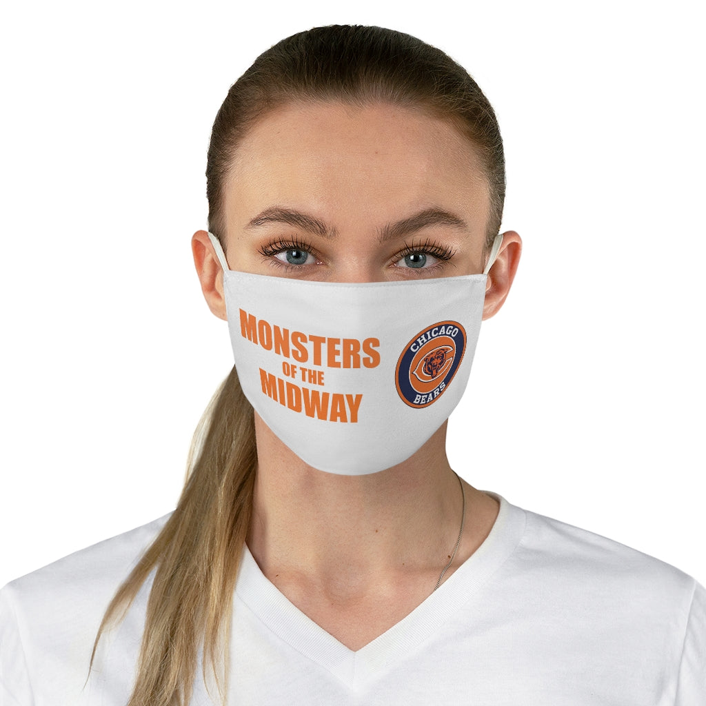 MONSTERS of the MIDWAY- CHICAGO BEARS REUSABLE FACE MASK - white