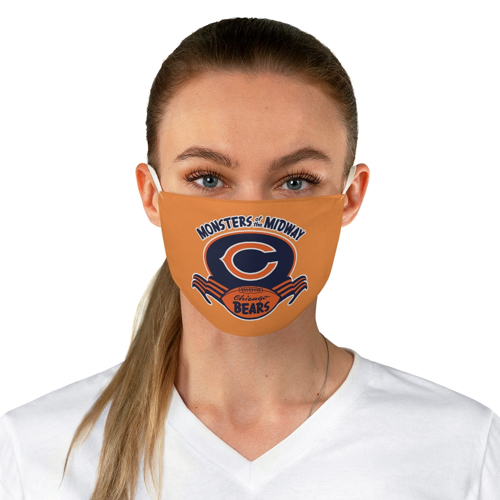 MONSTERS of the MIDWAY- CHICAGO BEARS REUSABLE FACE MASK - Orange