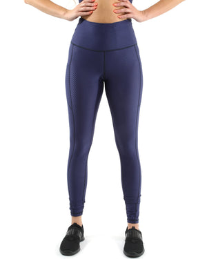Nicolzie Active Premium - Venice Activewear Leggings - Navy [MADE IN ITALY] - Size Small