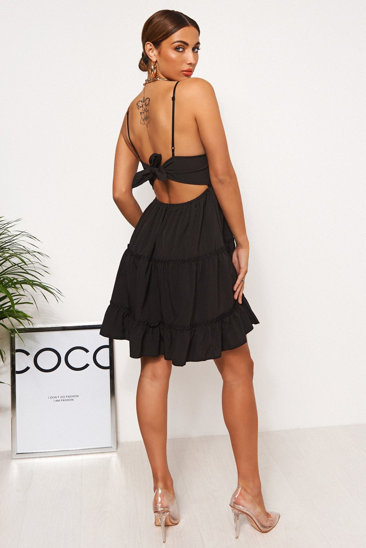 Nicolzie Active-Beautiful Crochet Dress available in Black or White