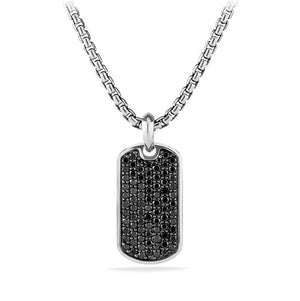 Father's Day! Stainless Steel Micro-Pav'e Crystal Setting Dog tags - Five Options