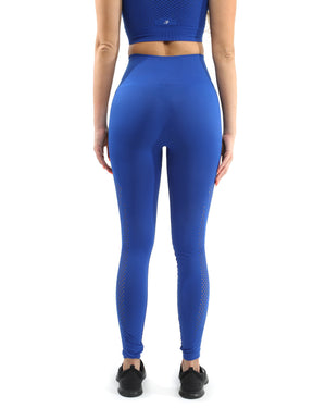 Nicolzie Active Premium - Milano Seamless Legging - Blue [MADE IN ITALY] - Size Small