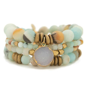 Amazonite Gemstone Bracelets