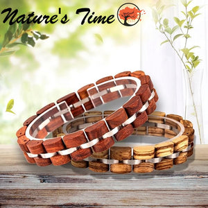 Nature's Time - Wooden Bangle Bracelets for Both Men & Women