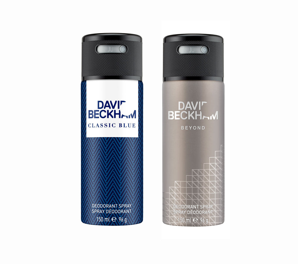 David Beckham Classic Blue + Beyond  Deo Combo Set - Pack of 2