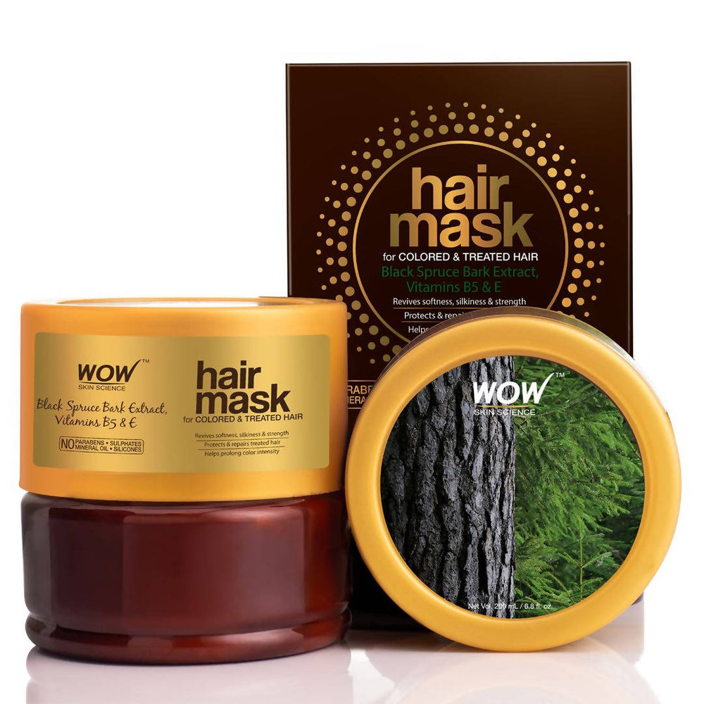 WOW Hair Mask For Coloured and Treated Hair - No Parabens, Sulphates, Mineral Oil and Silicones, 200 ml
