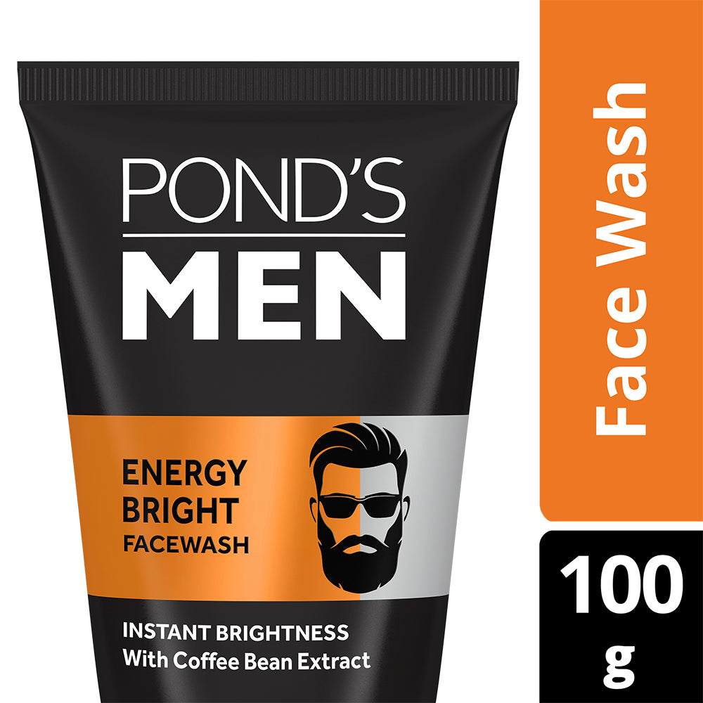 Pond's Men Energy Bright Anti-Dullness Facewash With Coffee Bean, 100 g