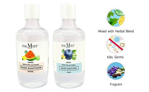 Palmist MAX Hand Sanitizer 500ml (Pack of 2) Gel with dispenser