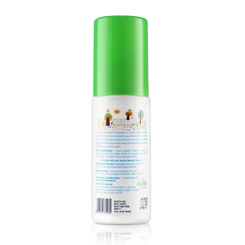 Mamaearth Soothing Massage Oil for babies (100 ml, 0-5 Yrs)