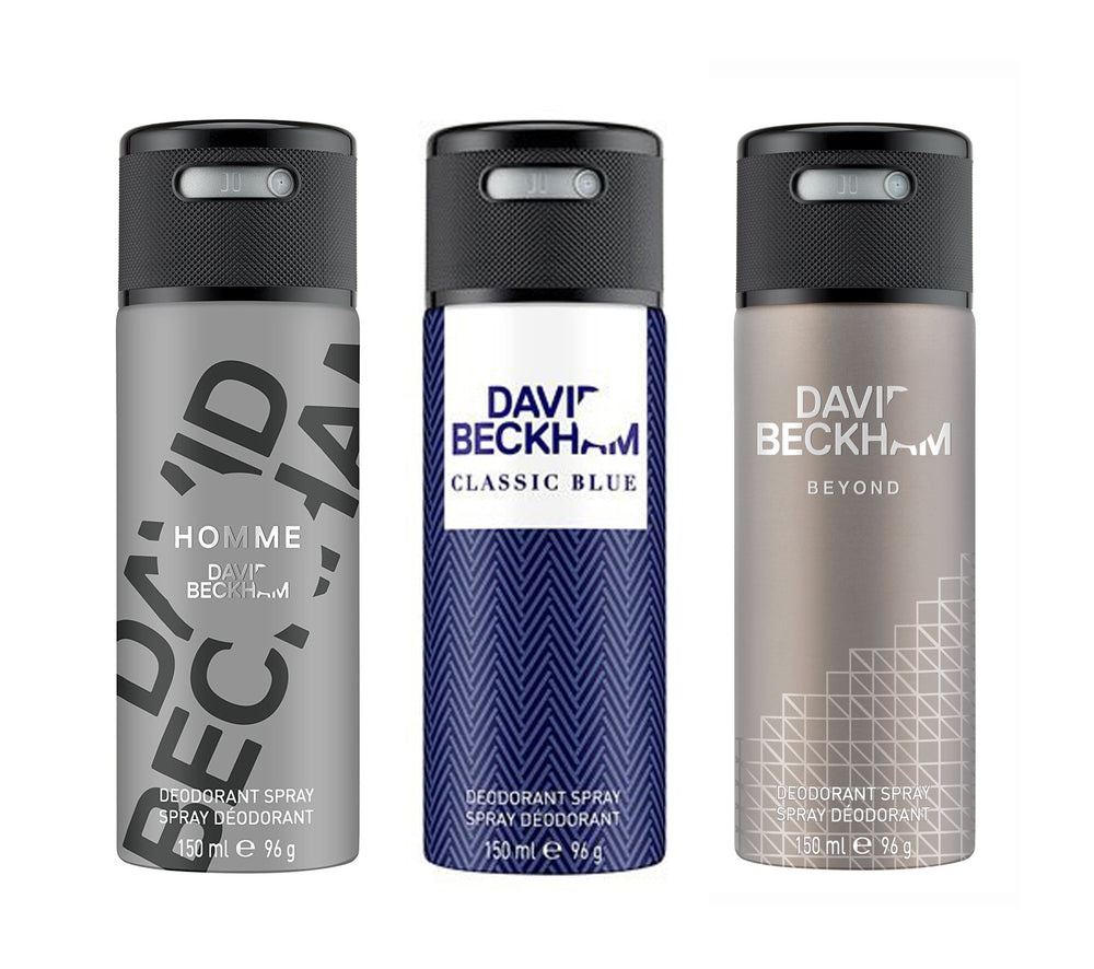 David Beckham Homme + Classic Blue + Beyond Deo Combo Set - Pack of 3