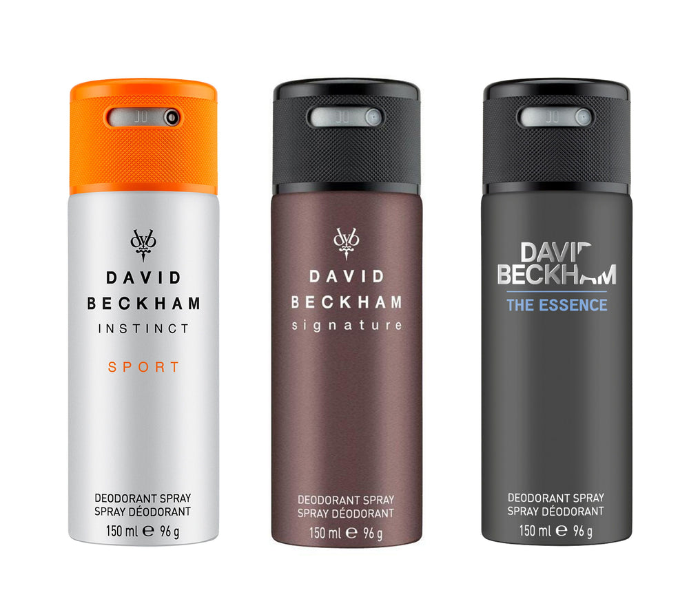 David Beckham Instinct Sport + Signature + Essence Deo Combo Set - Pack of 3