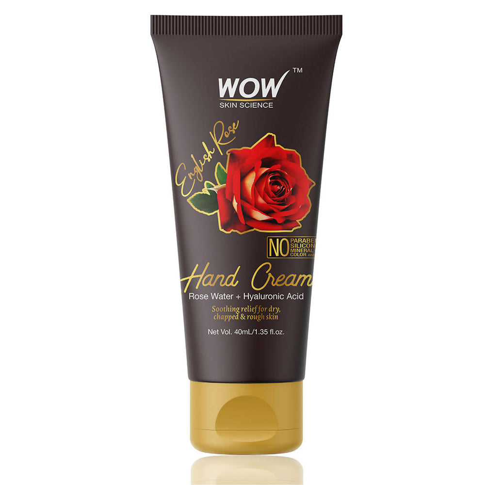 WOW Skin Science English Rose Hand Cream - No Parabens, Silicones, Mineral Oil, Color & PG (40 mL)