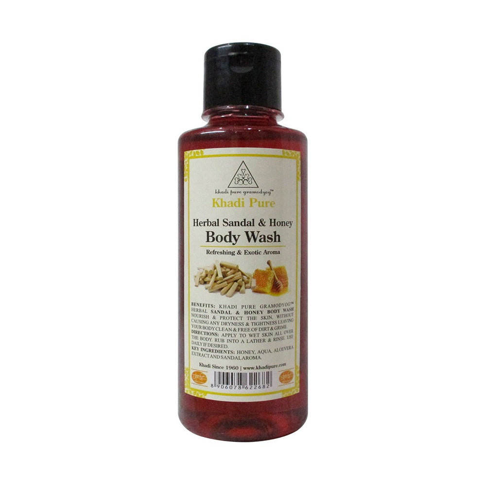 Herbal Sandal & Honey Body Wash - 210ml-Khadi Pure