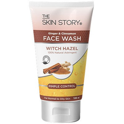Ginger & Cinnamon Face wash ; Pimple Control, 100 ml-The Skin Story