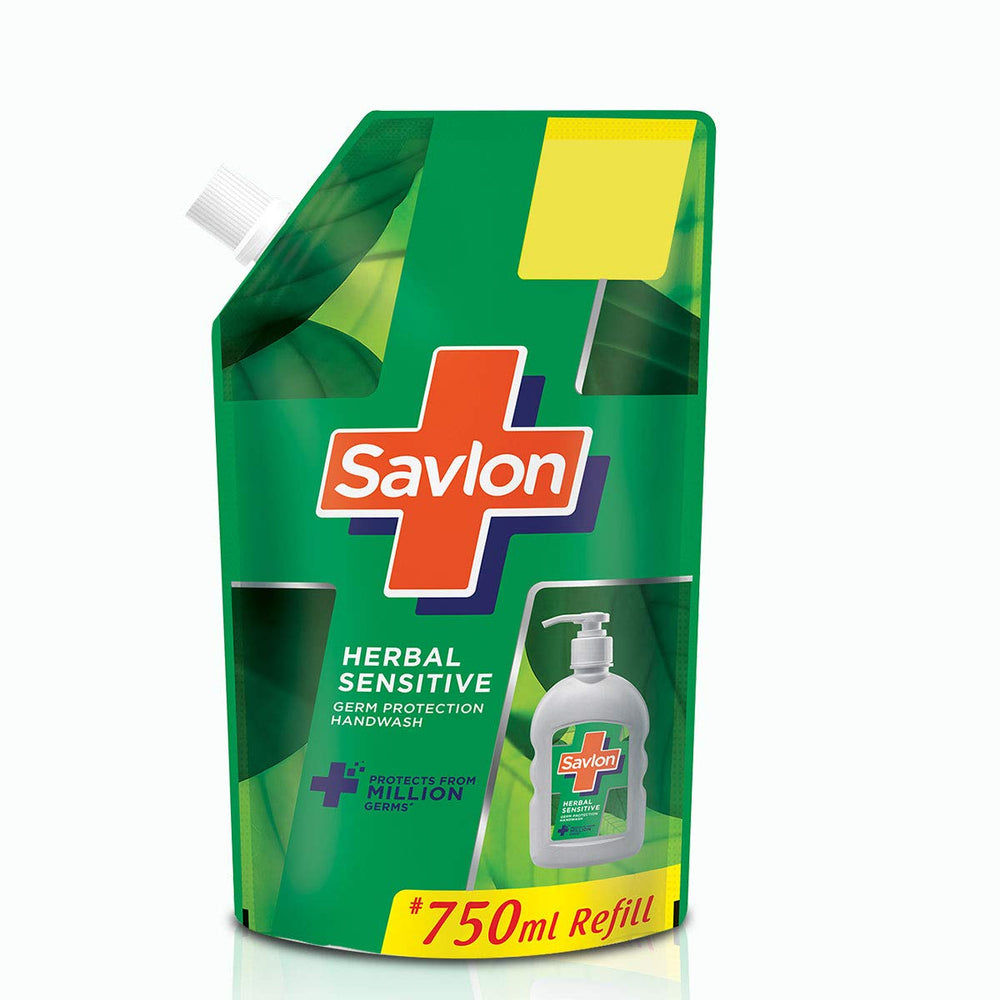 Savlon Herbal Sensitive Handwash Refill - 750ml
