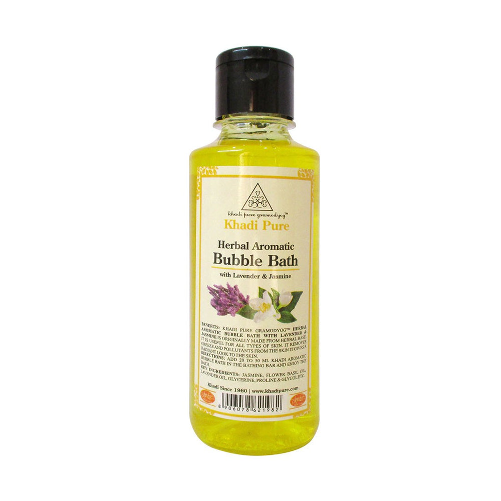 Herbal Aromatic Bubble Bath with Lavender & Jasmine - 210ml-Khadi Pure