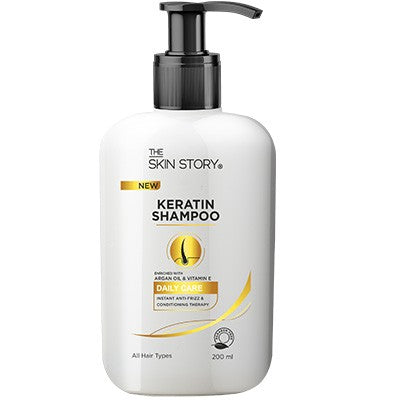 Keratin Shampoo , Instant Anti -Frizz , 200 ml-The Skin Story
