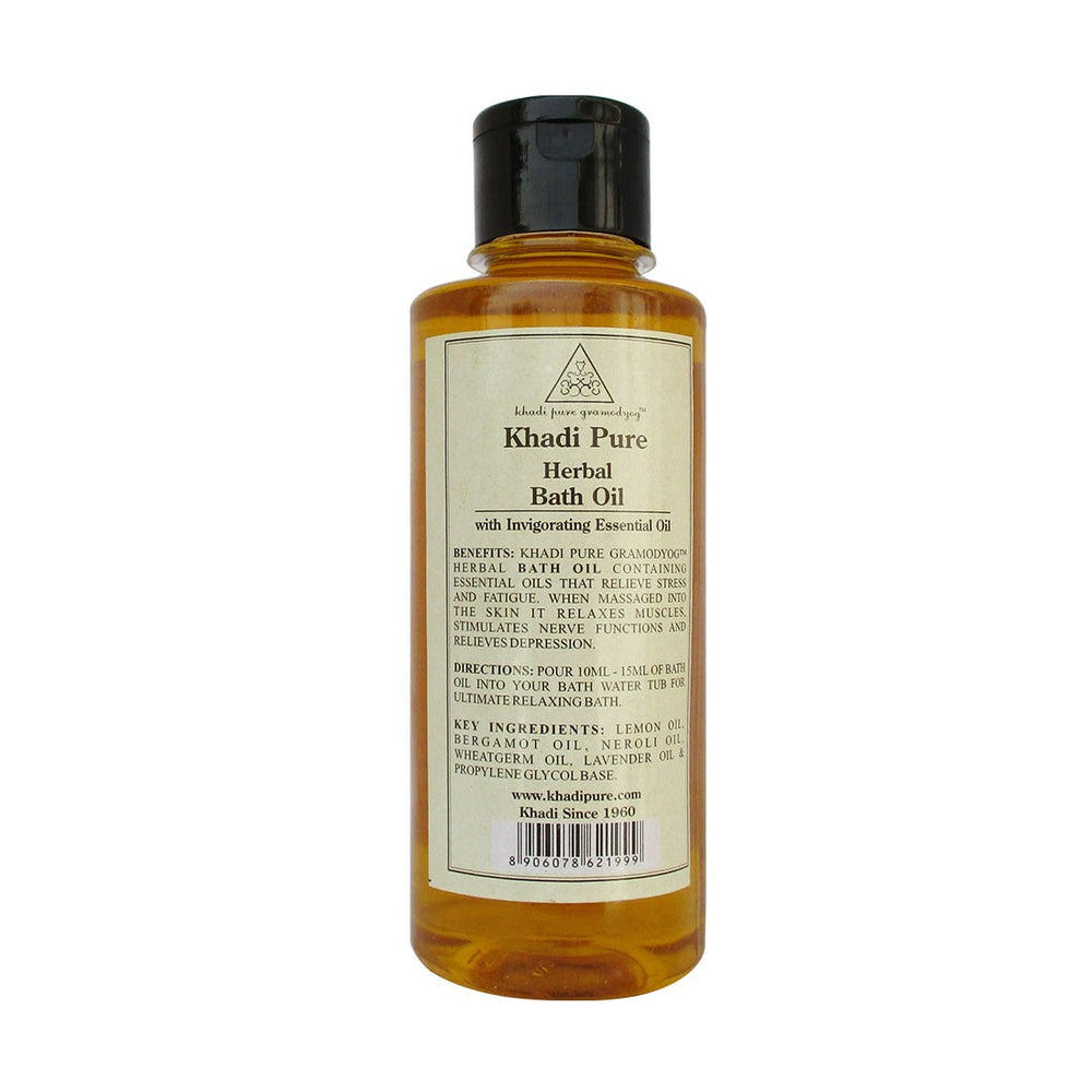 Herbal Bath Oil - 210ml-Khadi Pure