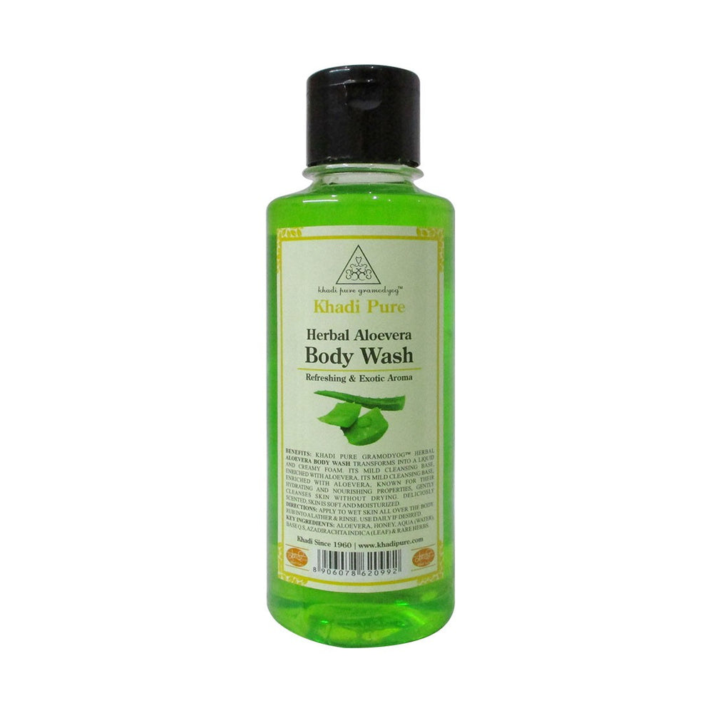 Herbal Aloevera Body Wash - 210ml-Khadi Pure