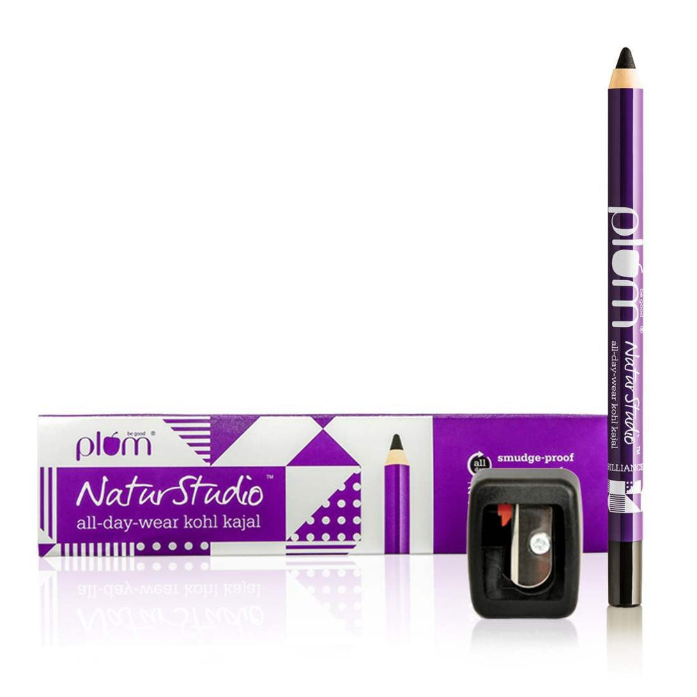 Plum NaturStudio All-Day-Wear Kohl Kajal - Black Brilliance(FSBB)