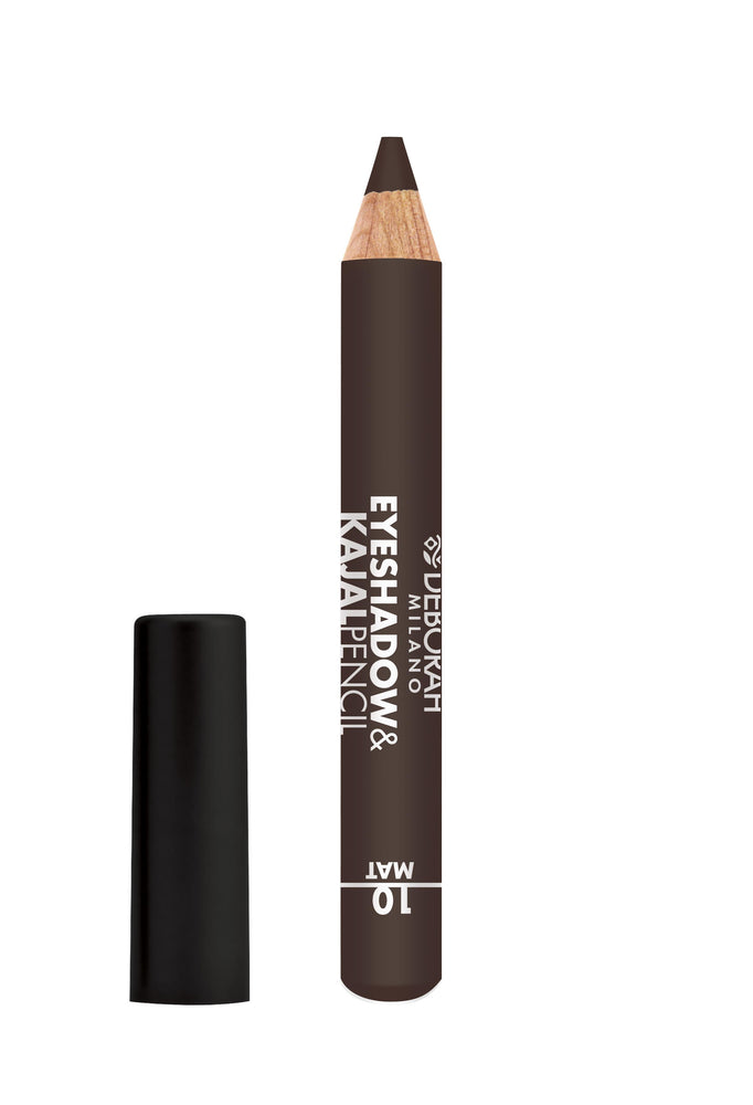 Deborah Milano Eyeshadow&Kajal Pencil - 10 Mat Brown